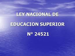 Ley Educ Superior